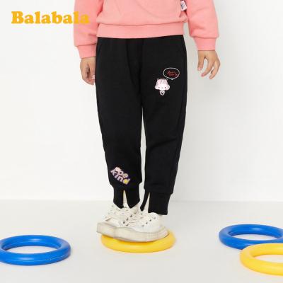 巴拉巴拉童裝女童褲子春季2020新款百搭小童寶寶長褲兒童休閑褲潮