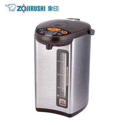 日本象印(ZO JIRUSHI)电热水瓶CD-WDH40C-HM象印正品微电脑电动给水不锈钢加热保温电热水瓶金属灰色4L