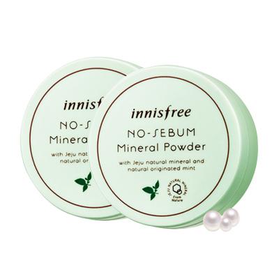 悅詩風吟(innisfree)綠色散粉 2盒 定妝粉蜜粉 遮瑕淡斑 控油平衡 收縮毛孔 任何膚質韓國進口5g