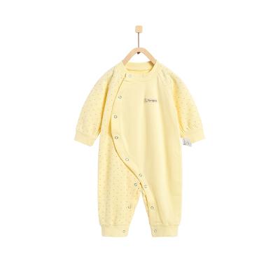 童泰TONGTAI婴幼儿内衣初生儿纯棉连体衣1-18个月宝宝偏开哈衣爬服婴幼儿通用80cm