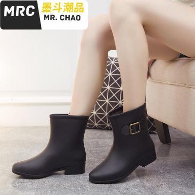 雨鞋女成人短筒加绒保暖可拆卸韩国可爱水鞋雨靴短筒防水时尚胶鞋