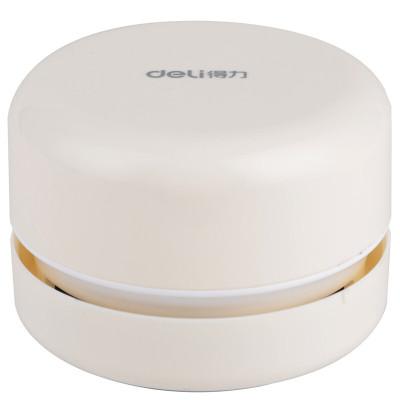 得力(deli) 18880白色款得力迷你桌面吸塵器吸橡皮屑家用小型無線清潔學生強力擦自動清理手持微型可愛電動