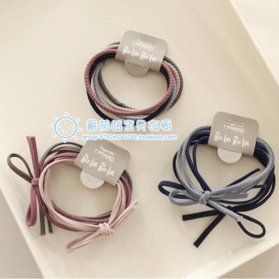 【強拉不斷不傷】韓國色中大童基礎打底皮筋扎辮子馬尾頭飾繩