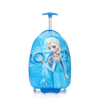昆吾鋒兒童玩具拉桿箱寶寶男20寸女孩公主小朋友行李箱女童男童18旅行箱 湖藍色16寸藍冰