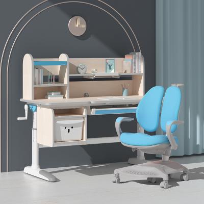 爱果乐儿童学习桌实木书桌小学生写字桌椅组合套装升降课桌椅子