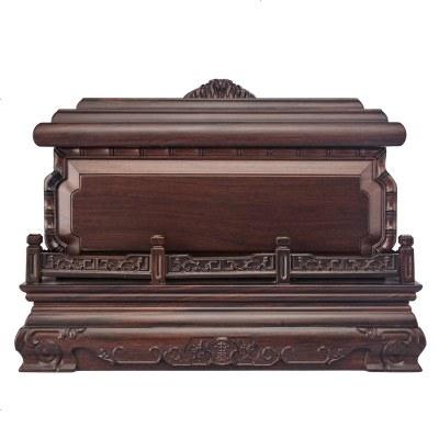 HOTBEE骨灰盒實木黑檀木男女通用款壽盒棺材龍鼎純實木順豐 殯葬用品