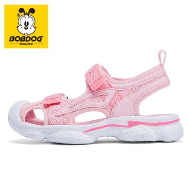 BOBDOG HOUSE巴布豆童鞋兒童涼鞋夏季男童軟底女童鞋時尚沙灘鞋子6212