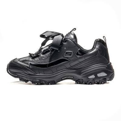 斯凯奇 Skechers D'LITES系列 熊猫鞋 女子休闲鞋 11976-BBK