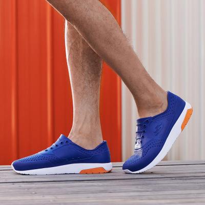 Skechers斯凱奇男鞋輕便透氣輕質休閑破洞洞洞鞋塑模鞋沙灘鞋涉水鞋男士 51734