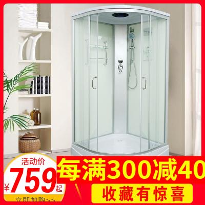【多城送達】整體淋浴房 整體浴室 整體滑輪玻璃扇形隔斷洗澡 封閉式沐浴房