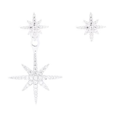 【黄圣依同款】APM Monaco不对称银镶晶钻流星耳环女 时尚精致气质耳饰AE10596OX
