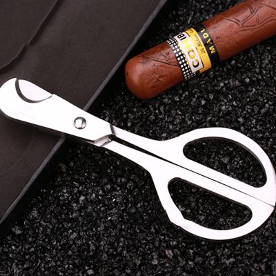 不锈钢雪茄剪刀纯金属雪茄刀雪茄剪加厚剪刀烟具