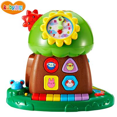 澳贝(AUBY)玩具趣味小树婴幼声光积木珠算早教电子琴智慧树塑料玩具 6-12个月 50块以下(块数) 463425DS