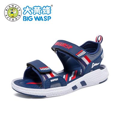 大黃蜂童鞋2019夏季新款男童沙灘涼鞋防撞防滑學生鞋子小孩3-12歲