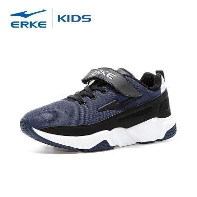 鸿星尔克(ERKE)男童鞋儿童运动鞋中大童防滑跑步鞋轻便休闲鞋魔术贴扣慢跑鞋
