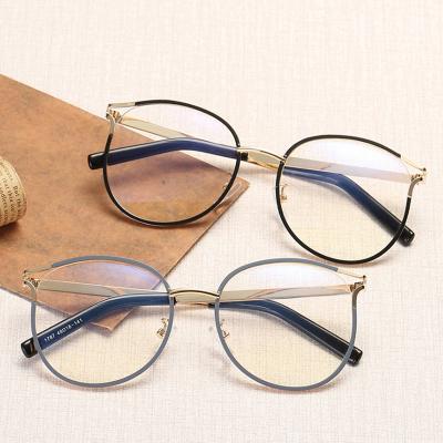 隆峰(Longfeng)配近視眼鏡平光鏡金屬鏤空貓眼眼鏡架防輻射男女通用記憶鈦近視鏡 鏡框