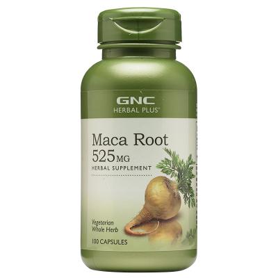 美国原装GNC健安喜草本玛卡根100粒Maca Root马卡硬胶囊玛咖
