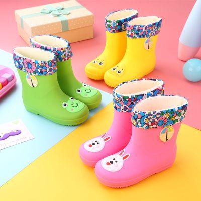 男女兒童雨鞋卡通水鞋小學生防滑中小童水靴四季兒童雨靴女孩