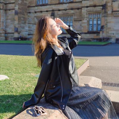 佐露絲RALOS皮衣外套女2020新款韓版寬松百搭學生春夏季簡約外套
