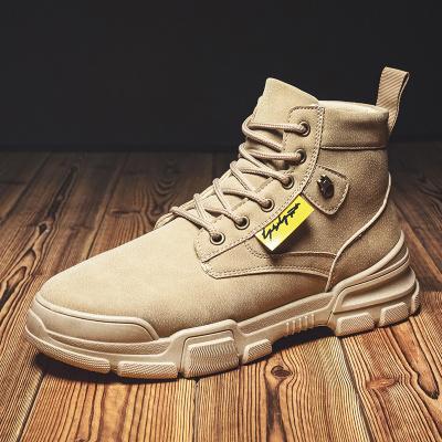 思可圖(SIKETU) 2020秋季新款男靴復古馬丁靴男士韓版潮流高幫工裝靴百搭靴子
