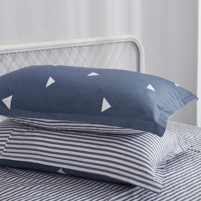 云瑾家紡 全棉斜紋枕套2個 純棉枕頭套一對裝 兒童成人枕套 單人雙人一對兩個裝45*75cm
