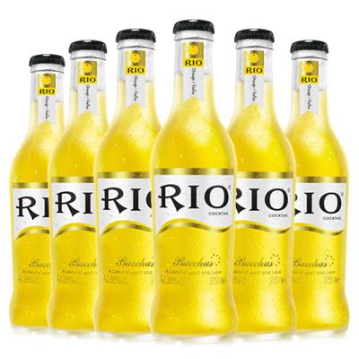 锐澳(RIO)洋酒 鸡尾酒 预调酒果酒 橙味 275ml*6瓶