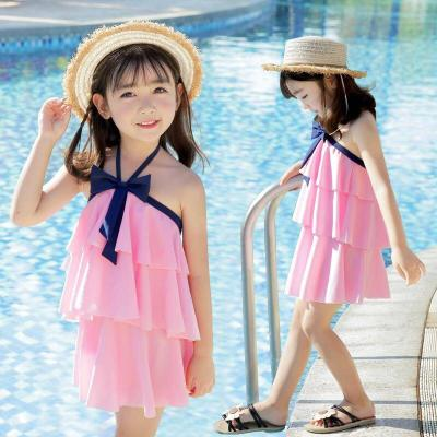 兒童泳衣女童泳衣女孩游泳衣連體分體套裝中大童泳衣泳裝滌綸 TCVV