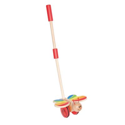 Hape蝴蝶推推樂手推玩具單桿推推樂寶寶兒童學步玩具年齡段1-3歲木質男孩女孩玩具