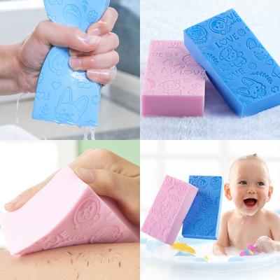 小霸熊搓澡巾搓澡神器洗澡強力搓泥海綿成人寶寶搓背搓灰免嬰兒去污兒童海棉顏色隨機