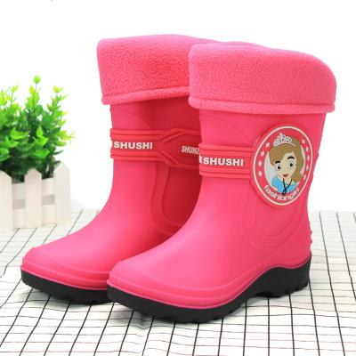 儿童雨鞋内胆加绒加厚男童女童秋冬款保暖内衬宝宝可拆卸雨靴棉套