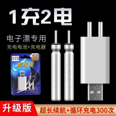 夜光漂電池可充電CR425通用電子漂夜釣魚漂浮漂電子票正品充電器同款