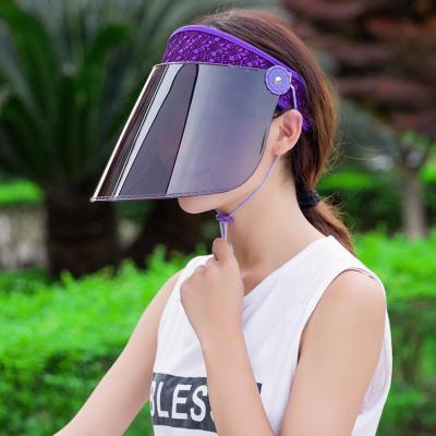 黛鬟遮陽帽女防曬帽騎車夏季戶外騎電動車可調節遮臉太陽帽子