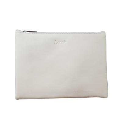 馥蕾詩(FRESH) 白色皮質化妝包壓印logo