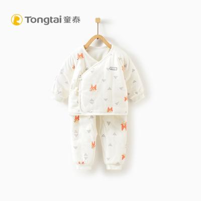 童泰2019年秋冬新款新生儿婴幼儿衣服纯棉和服套装男女宝宝两件套