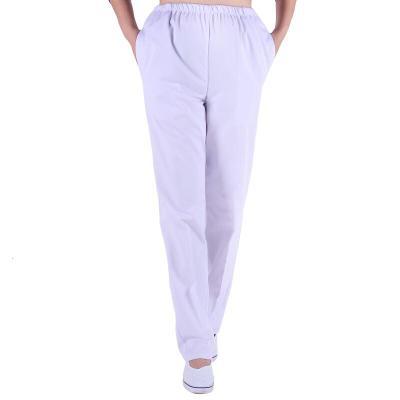 护士裤子白色工作裤女松紧腰医生大码粉色护士裤白男西裤
