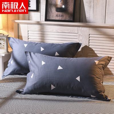 南极人(NanJiren)家纺 纯棉枕套一对装 床上用品48x74cm全棉单人枕头套枕芯套两只装