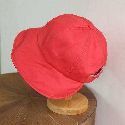 可扎馬尾絲棉半圓形遮臉漁夫帽 太陽帽 百搭布帽防曬帽
