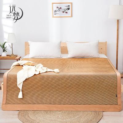 遠夢家紡 涼席藤席1.5m床席子可折疊草席學生雙用軟席1.8米床上用品單雙人用