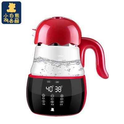 小白熊恒温调奶器智能恒温玻璃水壶多功能婴儿调奶器智能家用玻璃养生壶HL-0960