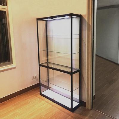 英飞力手办展示柜礼品玩具货架防尘家用透明玻璃陈列柜乐高动漫模型展柜
