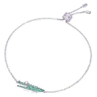 【直营】apm MONACO小鳄鱼银925银镶晶钻女士手链送恋人AB3522XKG