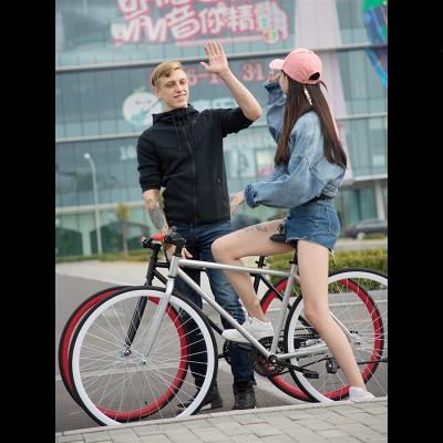 王太醫死飛自行車活飛實心胎單車倒剎車網紅公路賽車26寸24成年學生男女