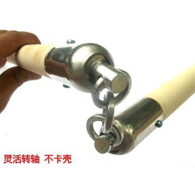 定做武術棍木質三截棍白蠟桿表演棍影視道具鐵鏈三節棍武術器械