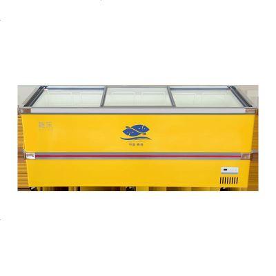 冰柜商用大容量臥式冷柜透明玻璃保鮮冷凍超市冷藏展示柜島柜