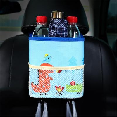 馳卡行 汽車車載垃圾桶迷你懸掛式牛津布椅背收納袋垃圾袋置物盒汽車用品