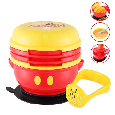 迪士尼(DISNEY)宝宝辅食研磨碗套装 婴儿辅食工具 食物研磨器 手动辅食机料理机