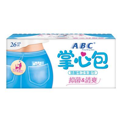 ABC衛生女性濕巾掌心包26片