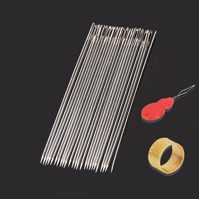 手缝针家用大眼针绣花针大孔针缝被针缝衣针-60(一包25枚)