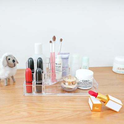 透明護膚品收納盒化妝品面膜刷子口紅整理盒桌面塑料置物架