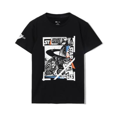 李寧星球大戰聯名系列童裝短袖T恤男小大童2020新款圓領針織上衣